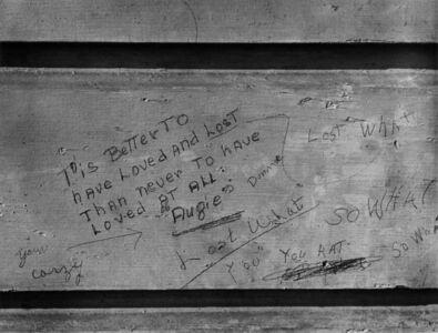 "John Gutmann, '""Lost What"" Graffiti', 1938"