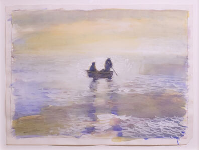Paul Thek, 'Untitled (seascape with rowboat)', 1987