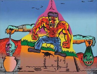 Gary Panter, 'Untitled (Muscle Man)', 1988