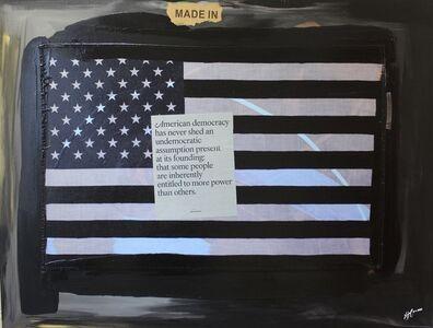 "Ligel Lambert, 'Work # 27, ""American Democracy.""', 2020"