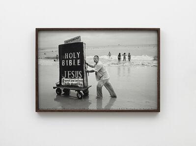 Ed Templeton, 'Man pushes bible cart HB, 2013', 2019