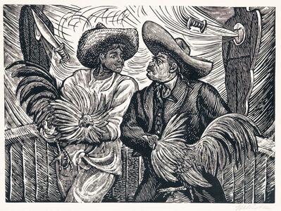 Leopoldo Mendez, 'Dos Galleros', ca. 1940