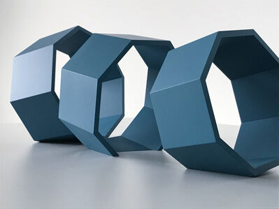 Thomas Lendvai, 'Untitled (Blue Octagons)', 2018
