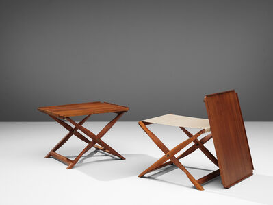 Kaare Klint, 'Set of Propeller Stools with Tray Table', 1960s