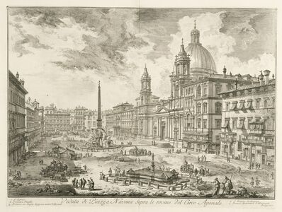 Giovanni Battista Piranesi, 'Veduta di Piazza Navona sopra le rovine del Circo Agonale', 1746-1748