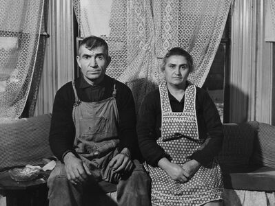 Jack Delano, 'American Farmer and his Wife, Connecticut', 1941