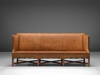 Kaare Klint, 'Kaare Klint Sofa Model 4118 in Mahogany and Original Cognac Leather', 1929
