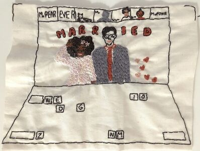 Iviva Olenick, 'Zoom wedding - love narrative embroidery', 2020