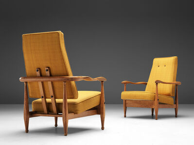 Guillerme et Chambron, 'Rare Set of Air France Armchairs', 1950s