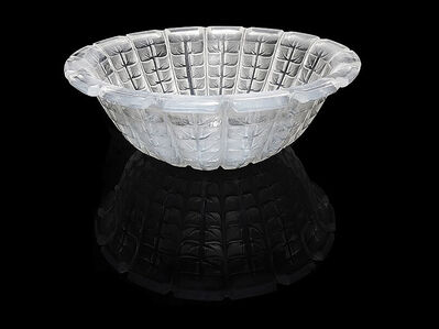 René Lalique, 'Rene Lalique Studios France Etched Crystal Bowl Rare Signed Glass Artwork Acacia', Early 20th Century