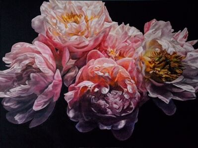Robert Lemay, 'Coral Peonies II - floral still life painting', 2020