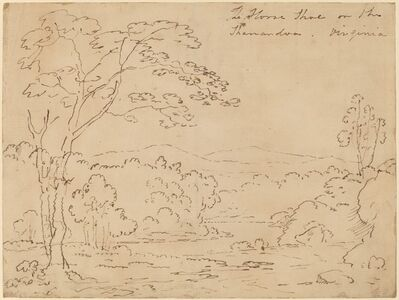 Joshua Shaw, 'The Horse Shoe on the Shanandoa (sic), Virginia', 1820s