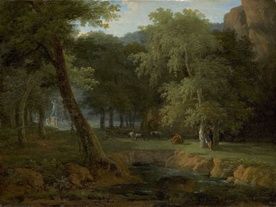 Jean Victor Bertin, 'Woodland Scene with Nymphs and a Herm', ca. 1810