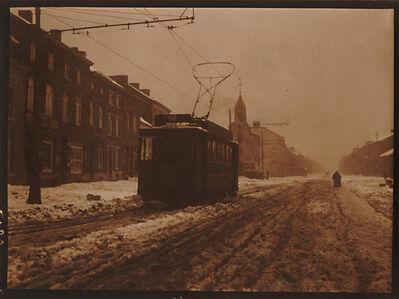 Léonard Misonne, 'Tram on a Snowy Day', 1920s