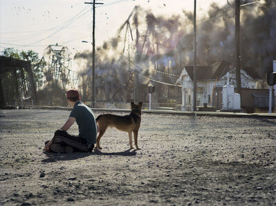 Peter Funch, 'Man and Dog', 2013