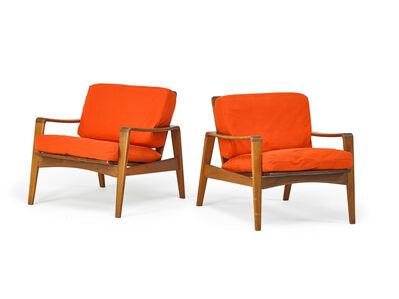 Arne-Wahl Iversen, 'Pair Arne Iversen Wahl For Komfort Lounge Chairs', 1970s