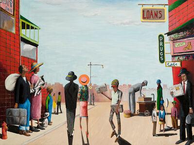 Benny Andrews, 'Harlem USA (Migrant Series)', 2004