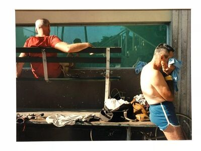Jerome Liebling, 'Vintage Signed Color Photograph Handball Players 1983 Miami Beach Florida', 20th Century