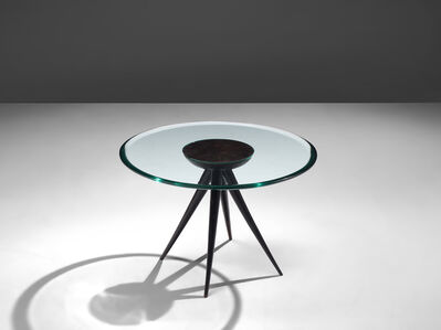 Pietro Chiesa, 'Side Table in Glass and Ebonized Wood', 1941