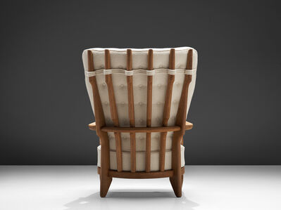 Guillerme et Chambron, ''Grand Repos' Lounge Chair Reupholstered in Pierre Frey Fabric', 1960s