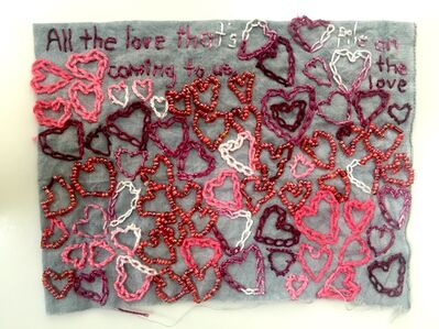 Iviva Olenick, 'All the Love - love narrative embroidery', 2019