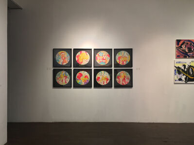 """Waseem Marzouki, 'Series of 8 Top Row L to R """" Fraud, Skull, Imposter, Imposter-2"""" Bot Row LtoR """"Tower, Fake, Firm-10, Hand', 2018"""