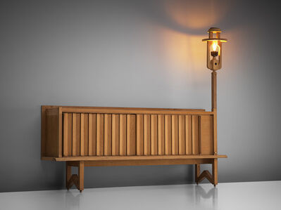 Guillerme et Chambron, 'Oak Credenza with Lantern', 1960s