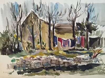 Katherine Librowicz, 'Village Laundry Laying', 20th Century