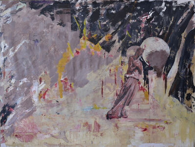 Bogdan Vladuta, 'LANDSCAPE WITH STATUE --Misericordia', 2016