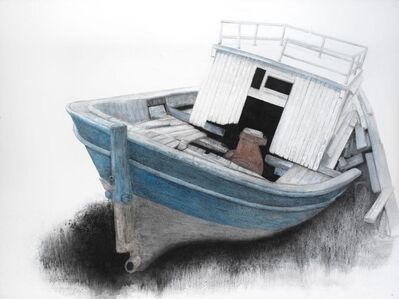 Sotiris Sorogas, 'Old fishboat on Lavrio ', ca. 2000