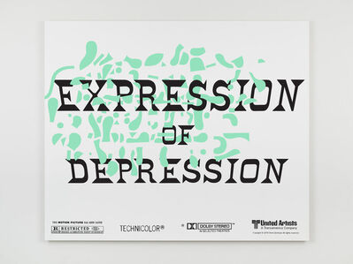 Matthew Brannon, 'Espression of Depression', 2021