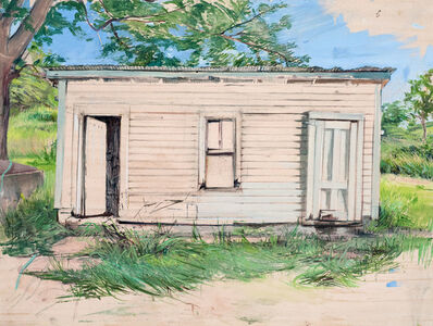 Melanie Vote, 'Washhouse, plein air', 2016