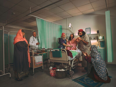 Natalie Lennard, 'Call to Prayer - Staged Cultural Photograph of Traditional Muslim Birth', 2020