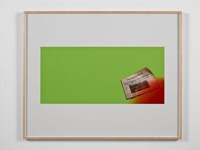 Larry Johnson, 'Untitled Green Screen Memory (Fires Still Rage)', 2010