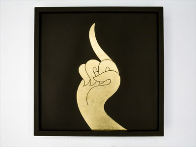 Sutee Kunavichayanont, 'The Elegant Middle Finger (Gold And Black) ', 2010