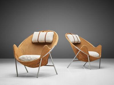 Erik Ole Jorgensen, 'Erik Jørgensen Lounge Chairs in Cognac Suede', 1953