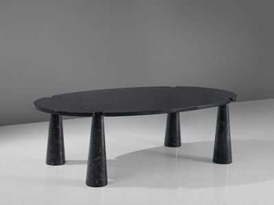 Angelo Mangiarotti, ''Eros' Dining Table in Black Marble', 1970s