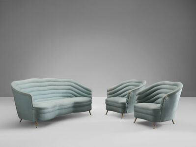 Andrea Busiri Vici, 'Sofa in Turquoise Blue Upholstery', ca. 1960