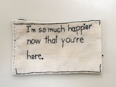 Iviva Olenick, 'Much Happier - love narrative embroidery', 2019