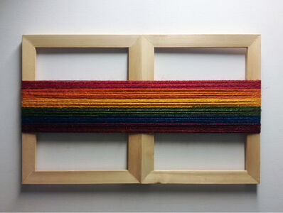 Ištvan Išt Huzjan, 'Visual spectrum between artist and curator - sculptural document of a performance with Tevž Logar /Bucharest, RO', 2019