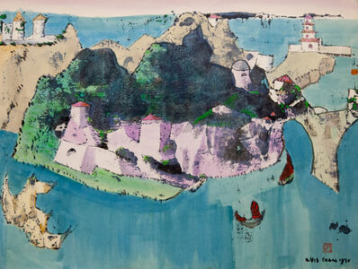 Luis Chan, 'Untitled (Fantasy Island with Turreted Towers)', 1970