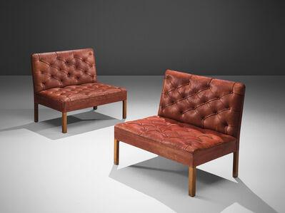 Kaare Klint, 'Kaare Klint 'Addition' Sofa's in Original Red Leather', 1933