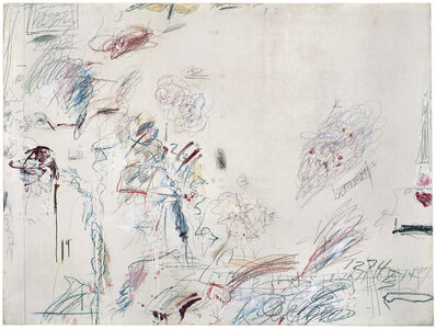 Cy Twombly, 'Second Voyage to Italy (Second Version)', 1962