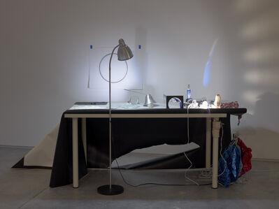 Katrina Moorhead, 'Tabletop Blue Rainbow. to settle an argument', 2011