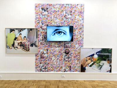 "Leonard Suryajaya, 'Untitled (installation view) ""Gap"", ""Roundtable Discussion"", ""Twinkle"" and custom artist wallpaper', 2019"