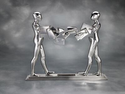 Ernest Trova, 'Double Walking Figure', 1986
