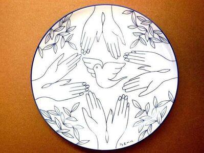 Ben Benn, 'Dove of Peace Limoges plate', 1960-1969
