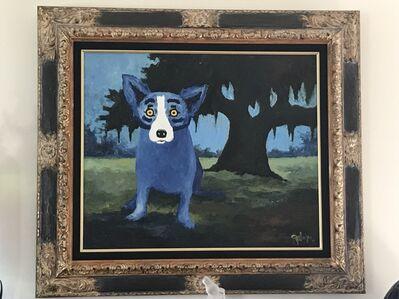 George Rodrigue, 'Blue Dog on Guard', 1994