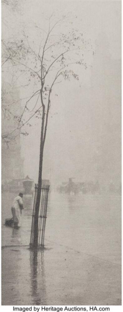 Alfred Stieglitz, 'Spring Showers, The Street Cleaner', circa 1900