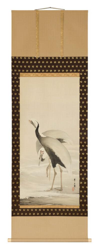 Tsuji Kakō, 'Pair of Cranes (T-4433)', Taisho (1912, 1926), Showa (1926, 1989) eras, 1920s